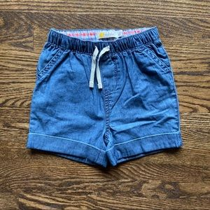 Mini Boden Chambray Drawstring Shorts